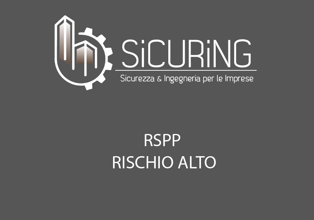 RSPP – rischio ALTO