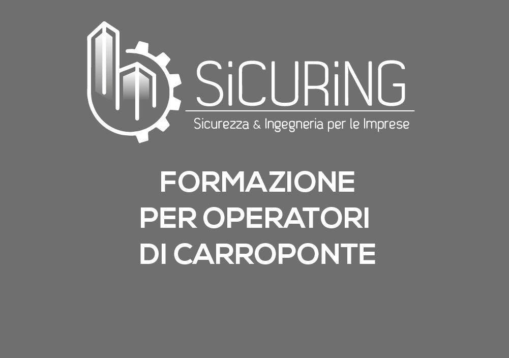 Formazione per Operatori di Carroponte